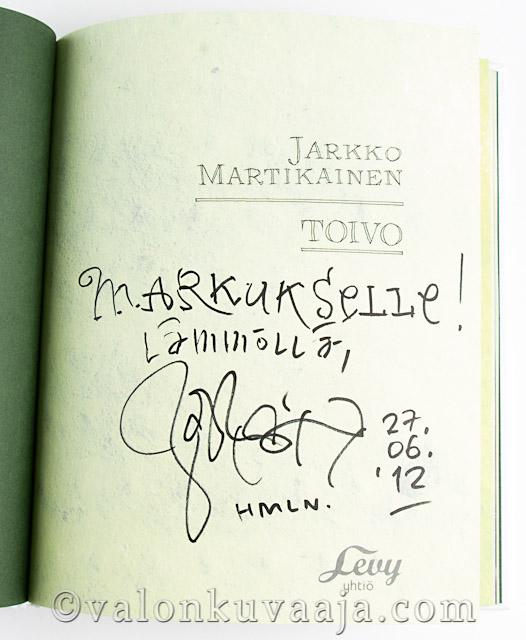 Jarkko Martikaisen signeeraus