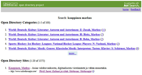 DMOZ Open directory project - Valonkuvajaa.com
