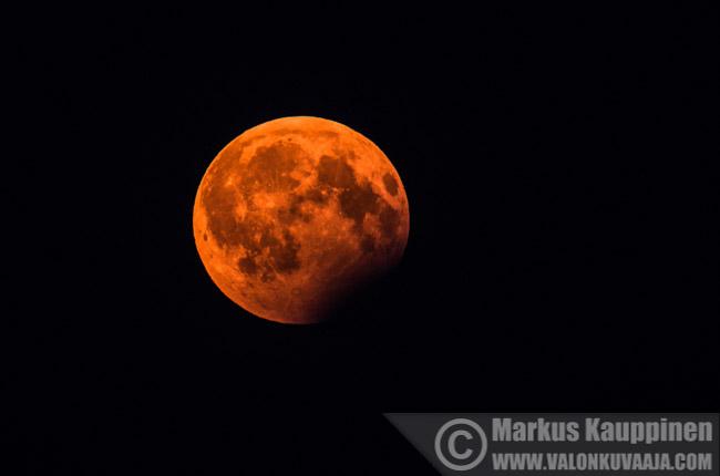 Osittainen kuunpimennys 7.8.2017. Valokuvaaja: Markus Kauppinen