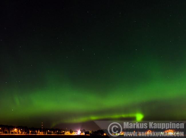 Aurora borealis. Valokuvaaja: Markus Kauppinen