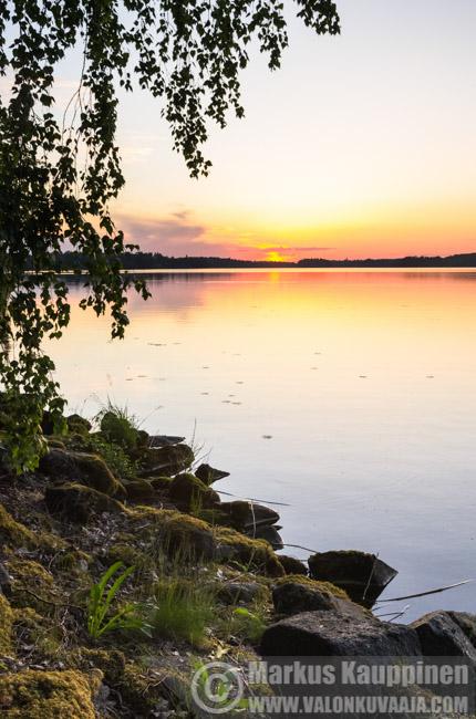 Auringonlasku Aulangolla. Valokuvaaja: Markus Kauppinen