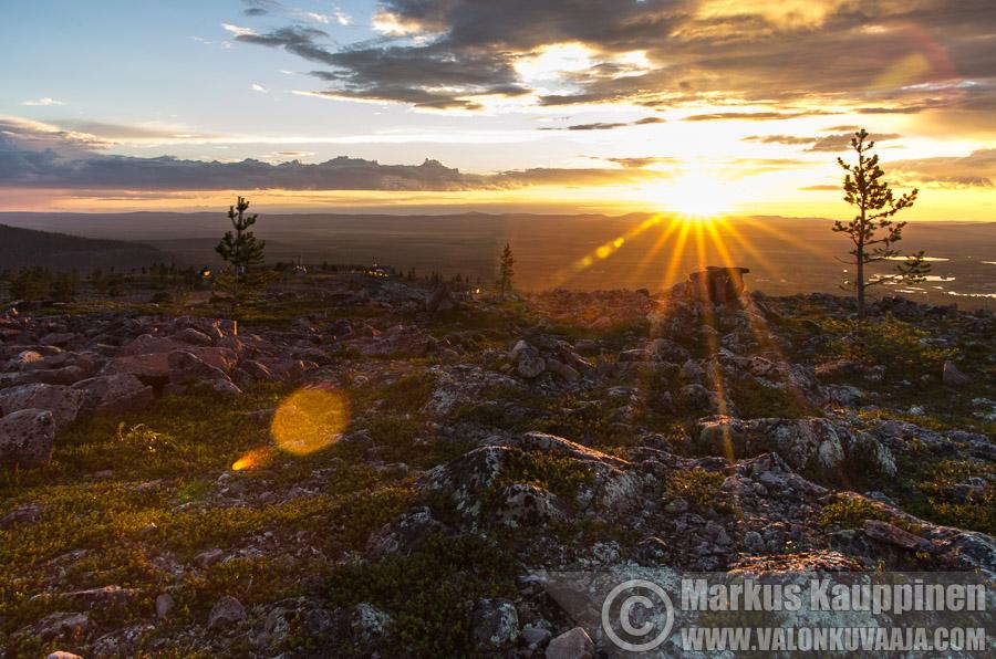 Auringonlasku Levillä. Valokuvaaja: Markus Kauppinen