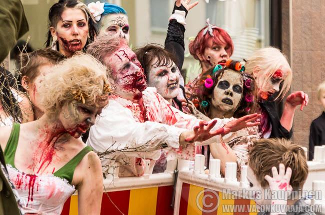Zombie Walk Hämeenlinna 2014. Kuvaaja: Markus Kauppinen
