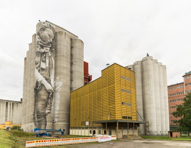 Guido van Helten's mural Kantola Finland. Photographer: Markus Kauppinen