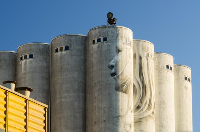 Guido van Heltenin toinen Kantolan muraali. Valokuvaaja: Markus Kauppinen