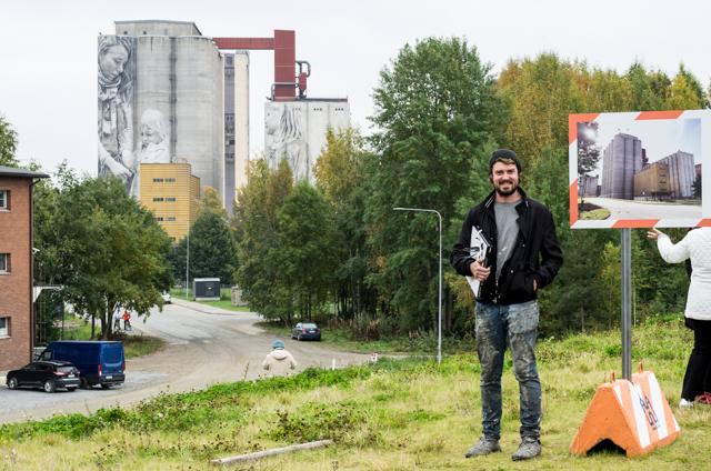 Guido van Heltenin Kantolan muraalin avajaistilaisuus. Valokuvaaja: Markus Kauppinen