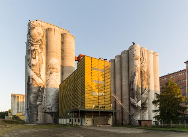 Guido van Heltenin muraali valmiina. Valokuvaaja: Markus Kauppinen