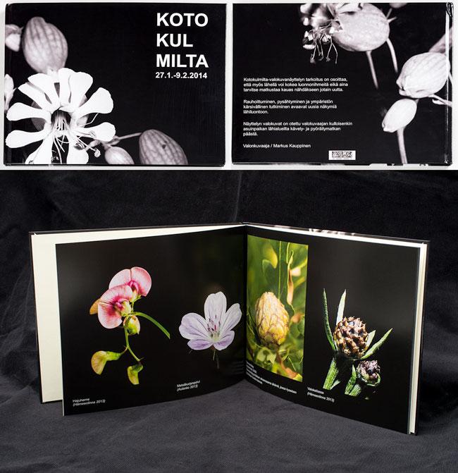 Kotokulmilta-valokuvanäyttelystä tehty kirja.