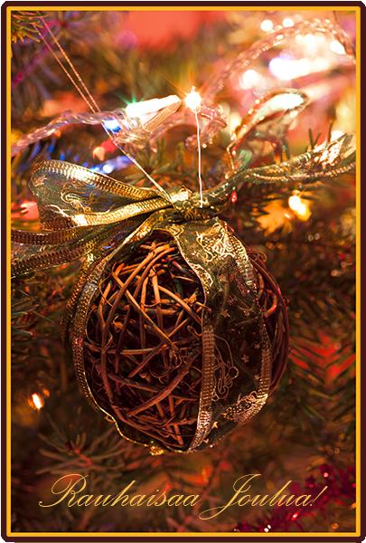 Rauhallista Joulua! Kuvaaja: Markus Kauppinen